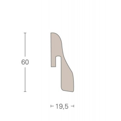 PARADOR - soklová lišta SL 4 k laminátovým podlahám řady TRENDTIME