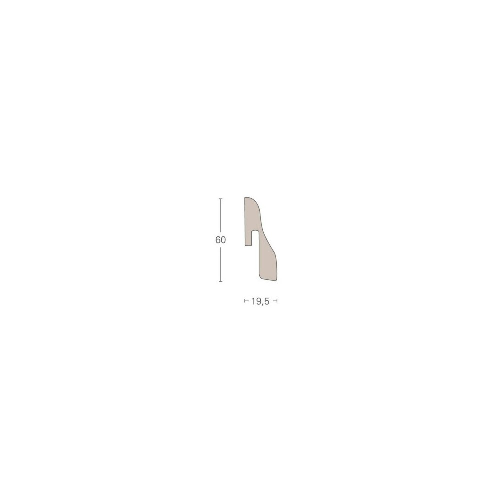 PARADOR - soklová lišta SL 4 k třívrstvým podlahám řady TRENDTIME 8